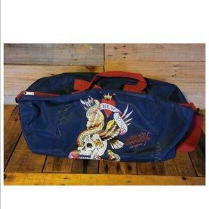 Don Ed Hardy bag EUC duffle gym carry on. No strap